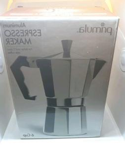Primula Pea-3306 Espresso Maker Aluminum 6 Cup New In Box