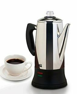 ❤ Percolator Elite Platinum 12-Cup Coffee Maker Brew Steel