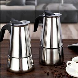 Percolator Stove Top Coffee Maker Moka Espresso Latte Stainl