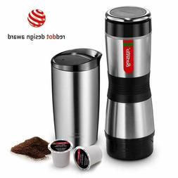 Portable Coffee Maker Compatible K Cup And Ground Tripresso