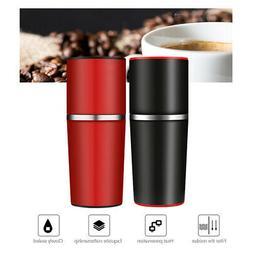 Portable Coffee Maker Espresso Machine Manual Grinder Filter