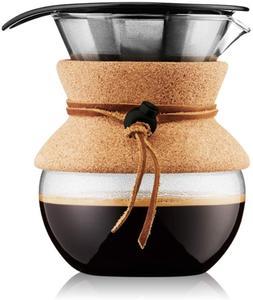 Bodum Pour Over Coffee Maker, 17 Ounce.5 Liter, Cork Band