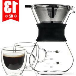 Pour Over Coffee Maker / Coffee Mug Cup - for Coffee Tea Esp