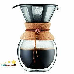 BODUM Pour Over Coffee Maker Grip, 8 Cup, 34 Ounce, Double W