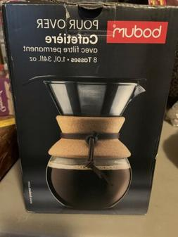 Bodum Pour Over Coffee Maker w/Permanent Filter 8 Cup