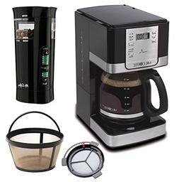 Mr. Coffee Programmable Coffee Maker and Bonus Grinder, 12 C