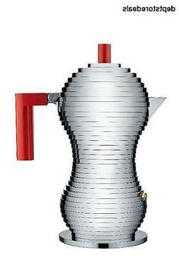 Pulcina Stove Top Espresso 3 Cup Coffee Maker in Aluminum Ca