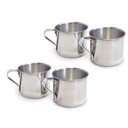 IMUSA R200-12W Aluminum Mug 1.25 Quart 4 Pack