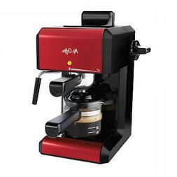 Red Espresso Cappuccino Machine 20 oz. Steam Automatic Coffe
