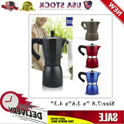 Simple 240 ML Aluminum Moka Express 6 Cup Stovetop Espresso