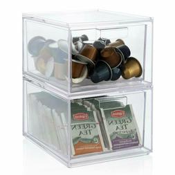 stackable clear plastic coffee pod and tea