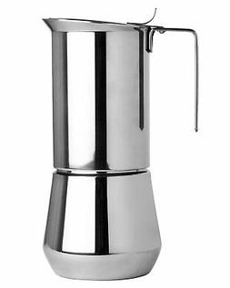 Ilsa Stainless Steel 6 Cup Stovetop Espresso Maker