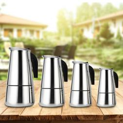 Stovetop Coffee Maker 4/6 CUP Stainless Steel Cuban Espresso