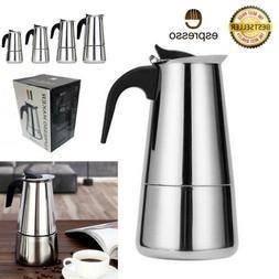 Stainless Steel Espresso Coffee Stovetop Maker Pot Percolato