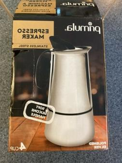 Primula Stainless Steel Espresso Maker with SILICON HANDLE !