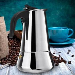 Stainless Steel Italian Moka Espresso Coffee Maker Stove Top