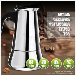 Stainless Steel Mocha Espresso Latte Percolator Stove Top Co