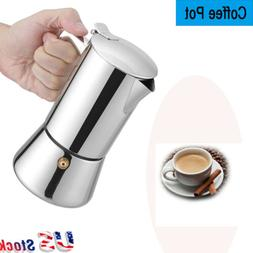200ml Stainless Steel Moka Pot Espresso Coffee Maker for Gas