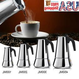 Stainless Steel Moka Italian Espresso Coffee Maker Percolato