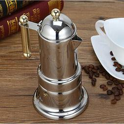Stainless Steel Moka Italian Stovetop Espresso Coffee Maker