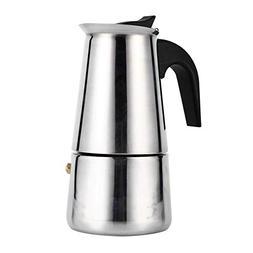 fosa 100ml/200ml/300ml/450ml Stainless Steel Moka Pot Espres