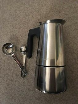 Stainless Steel Stovetop 9 cup Espresso Coffee Maker Tuasia