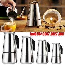 New Stainless Steel Stovetop Espresso Coffee Maker Percolato