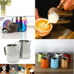 Stainless Steel Tea Milk Frothing Jug Pitcher Coffee Express