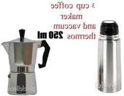 Stove Top Espresso Coffee Maker cuban 3 Cups Cafetera Cubana