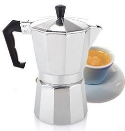 Stove Top Espresso Cuban Coffee Maker Cappuccino Latte 3 Cup