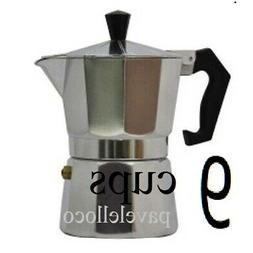 Stove Top Espresso  Coffee Maker pot Cappuccino Latte 9 Cups