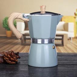 Stovetop Coffee Maker 3/6 CUP Aluminum Italian Espresso Perc