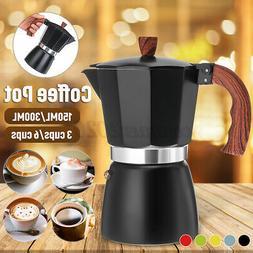 Stovetop Coffee Maker 3/6 Cups Italian Espresso Percolator M
