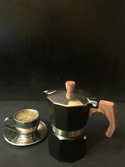 StoveTop Coffee Maker Espresso Moka  Coffee 3 Cup Aluminum W