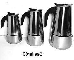 Stovetop Coffee Maker  Stainless Steel Espresso Percolator 4