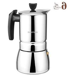 Stovetop Espresso & Moka Pots Maker - 6 Cups Demitasse Shot