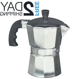 Stovetop Espresso Coffee Maker Pot Moka Cuban Latte Italian
