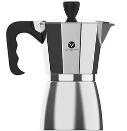 Stovetop Espresso Maker,6 Cups Capacity,Keep Warm(Silv