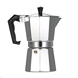 Decdeal 3-12 Cup Stovetop Espresso Maker Aluminum Coffee Sto