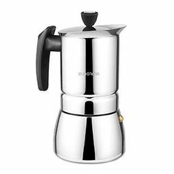 Stovetop Espresso Maker Moka Pot 6 Cups Demitasse Espresso S