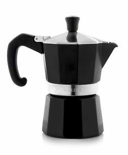 Bellemain Stovetop Espresso Maker Moka Pot  Black