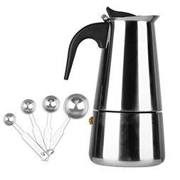 Stovetop Espresso Maker Stainless Steel Moka Pot Coffee - 9
