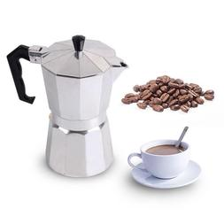 Stovetop Moka Coffee Maker 1/3/6/9/12 Cup Italian Top Espres