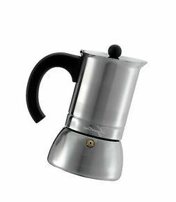 Lagostina T9910464 Stainless Steel Espresso Coffee Maker, 6-