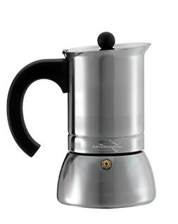 Lagostina T9910464 Stainless Steel Espresso Coffee Maker, 6-