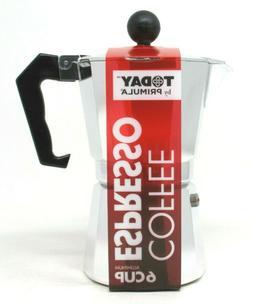 Primula TES-3306 6 Cup Espresso Maker, Aluminum
