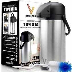 Vondior 3 Liter Thermal Airpot Beverage Dispenser 102 Ounce