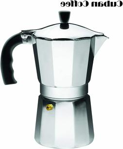 IMUSA USA 6 Cup- Stovetop Coffee Maker  Cool Touch Handle Es