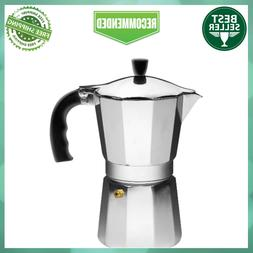 IMUSA USA 9 Cup Stovetop Cuban Style Espresso Maker with Dur