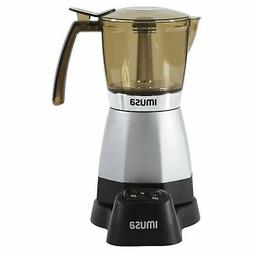 IMUSA USA B120-60007 Electric Coffee/Moka Maker 3-6-Cup  Sil